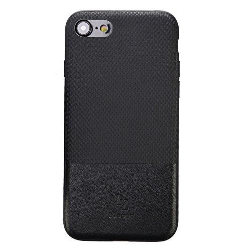 Mobiltelefonhülle - DZGOGO LUXURY Serie für iPhone 7 TPU + PC Business Style Lederbekleidung Schlagkombination Schutzhülle ( Farbe : Schwarz ) Schwarz
