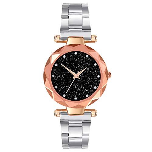 COOKDATE Herren Damen Analog Uhr Dünn Elegant Luxusuhr Geschäft Braun Armband Uhr mit Edelstahl Armband Silber