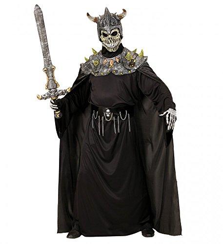 Kostüm Maske Warlord - shoperama Totenkopf Warlord Horror Maske mit Schulterpanzer und Umhang Halloween Kostüm Skull