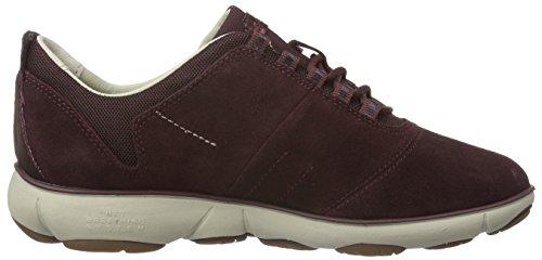 Geox Damen D Nebula E Sneakers Rot (DK BURGUNDYC7357)