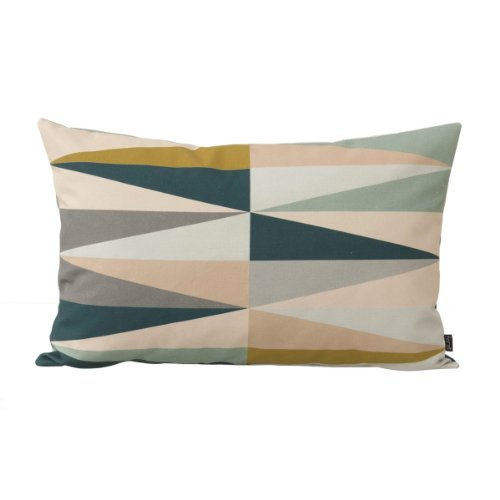 Ferm Living Kissenhülle Spear Cushion - Multi - Small 60 x 40 cm mit Füllung