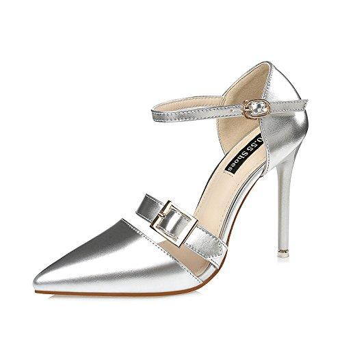 Lgk & Fa Chaussures À Talons Hauts À Talons Hauts Sandales Fines Et Sandales Argentées Professional 39 Black 35 Silver