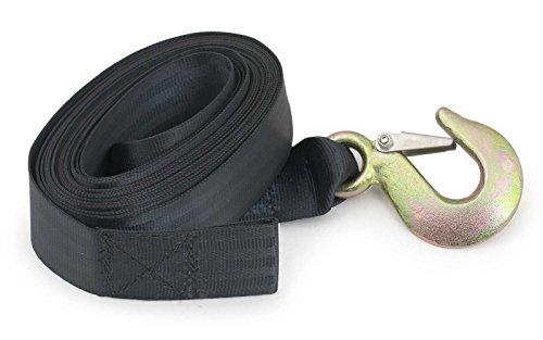 Nautika Windengurt für Trailer, Anhänger und Bootswinde 900kg 6m Trailerhaken Ersatz-Gurt Anhängerwinde Windenseil Drahtseil Stahlseil Hand-Seilwinde Handwinde Gurt Anhängehaken - Boot Trailer Gurt