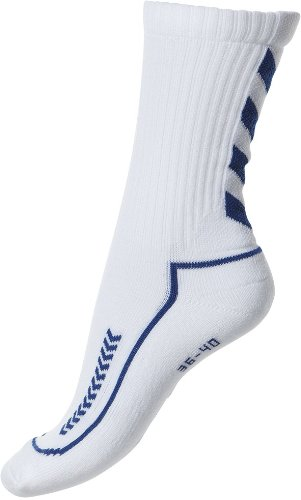 Hummel Kinder Advanced Indoor Socke, weiss/blau, 32-35 (8), 21-058, 9368