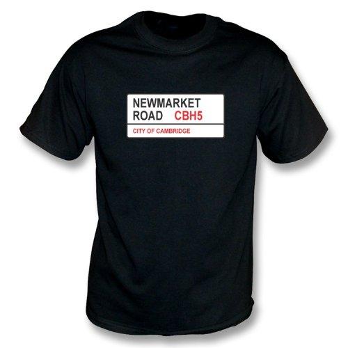 T-Shirt Cambridge Newmarket-Straßen-CBH5 vereinigte Schwarzes