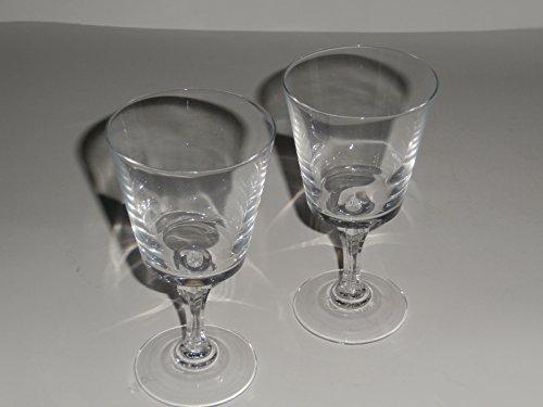 W.M. Dalton French Blei Kristall Wein Glas Paar (Gläser Wein Kristall Blei)