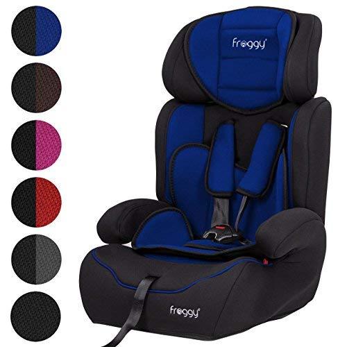 Einstellbare Unten Gesetzt (Froggy® Autokindersitz Gruppe I/II/III (9-36 kg) + Sicherheitsnorm ECE R44/04 + 5-Punkte-Sicherheitsgurt + verstellbare Kopfstütze Blau)