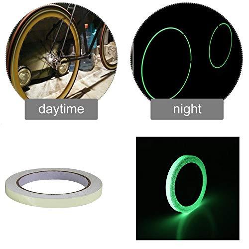 10mm * 10m Glow Tape Safety Sticker Smontabile Luminoso Fluorescente Acrilico Autoadesivo Adesivo Decorazione del Palcoscenico -