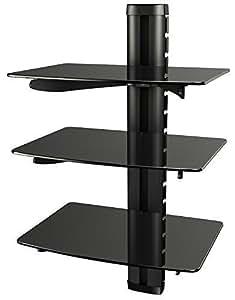 Ricoo meuble tv design support mural tv meuble tele dvd dvd b3 etagere murale en verre hifi - Etagere murale pour decodeur tv ...