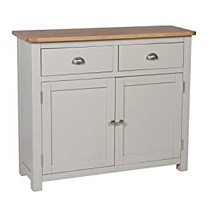 portland painted oak small sideboard painted grey buffet. Black Bedroom Furniture Sets. Home Design Ideas