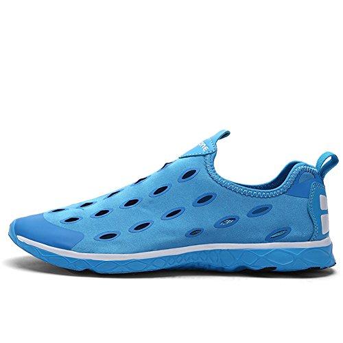 Hommes Chaussures d'eau Chaussures légères Sneaker Beach Natation Pêche Nautique Chaussures décontractées Chaussures Bleu