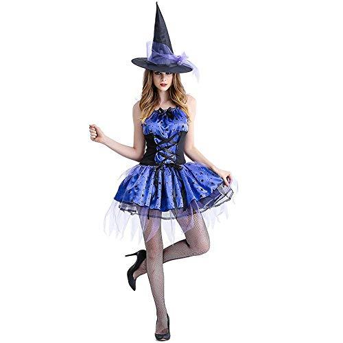 Fashion-Cos1 Geisterbraut Cosplay Kleid Hut Halloween Hexen Vampir Cosplay Kostüm (Size : S)