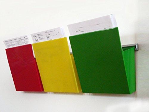 Studio T Kanban Vaschette Porta Documenti da Parete, A4