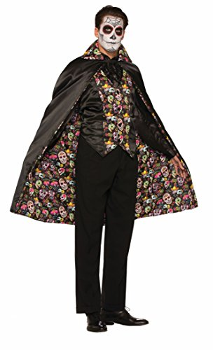 Bristol Novelty Forum Novelties 74686 Day of The Dead Cape (One Size)