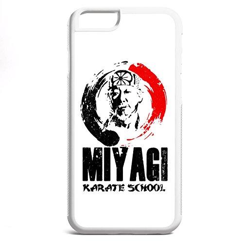 Smartcover Case Miyagi Karate School z.B. für Iphone 5 / 5S, Iphone 6 / 6S, Samsung S6 und S6 EDGE mit griffigem Gummirand und coolem Print, Smartphone Hülle:Iphone 5 / 5S schwarz Iphone 6 / 6S weiss