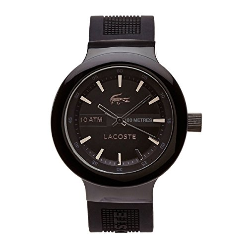 Lacoste Men's Quartz Watch with Black Dial Analogue Display Quartz Silicone 2010685
