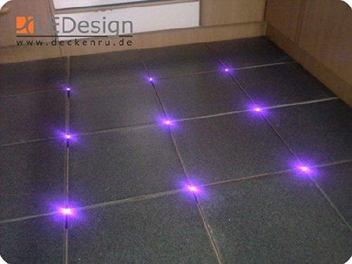 16x Fliesen LED 3mm Fuge Licht Beleuchtung inkl. Trafo Fugenlicht Kreuz Fliesenlicht UV-Violett-schwarzlicht