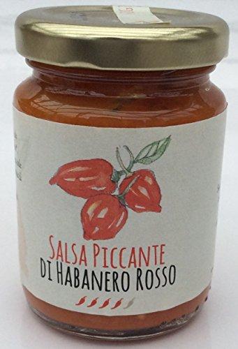 SALSA PICCANTE CON HABANERO RED - Salsa piccante peperoncino Habanero rosso - Società Agricola Alba