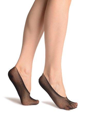 Black Lace With A Butterfly Lace Footies - Schwarz Socken Einheitsgroesse (37-42) -