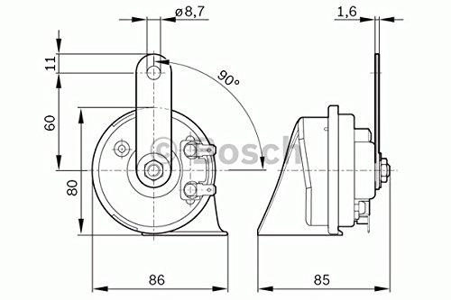 Bosch 9 320 335 052 Avertisseur Ec-9 Kit De Montage