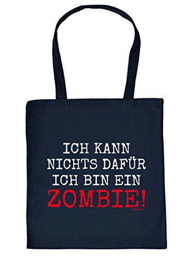 Gruselige Halloween Baumwolltasche : Halloween/Ich kann Nichts dafür ich Bin EIN Zombie ! - Goodman Design - Tasche für Süßigkeiten Farbe: Navy-blau (Tasche Bin Halloween-kostüme)