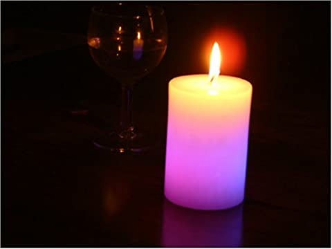 Glo-Wax Pillar Shaped Colour Changing Dreaming LED Magic Candle