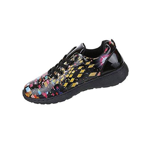 Damen Schuhe Freizeitschuhe Sneaker Slipper Schwarz