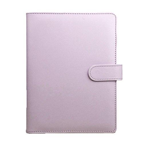 Ferrell A5 Notebook Loose Leaf raccoglitore ad anelli in pelle taccuino macaron colore agenda agenda diario cancelleria ufficio Rosa