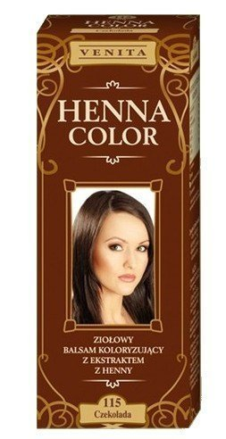 Henna Color 115 Chocolate Bálsamo Capilar Tinte Para Cabello Efecto De Color Tinte De Pelo Natural Gallina Eco