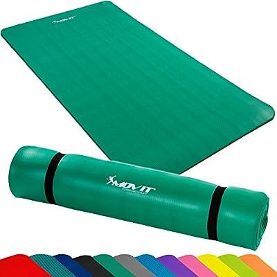 MOVIT Pilates Gymnastikmatte, Yogamatte, phthalatfrei, SGS geprüft, in 2 Größen 190cm x 100cm oder 190cm x 60cm, Stärke 1,5cm, in 12 verschiedenen Farben von Movit