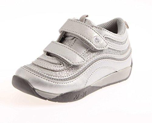 Naturino Kindersneaker Sneaker Schuhe Klettschuhe Mädchen Jungen Sport 171 Silber