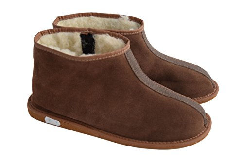Natleat Slippers - Stivali a Gamba Larga donna Unisex adulti uomo Suede Brown