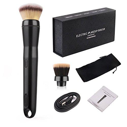 Elektrisch Make-Up Pinsel Set 2 Speed Professional schminkpinsel Kosmetikpinsel Lidschatten Gesichtspinsel Kosmetische Pinselsets mit der Pulver erröten Kopf und Bürsten, Geschenk Verpackung (Elektrischer Ebene)