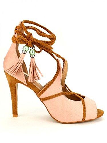 Cendriyon, Escarpin rose poudré BELLUCCI MODA Chaussures Femme Rose