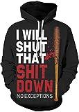 EUDOLAH Junge Pullover Pulli Sweatershirts 3D Druck Halloween Weihnachten Kostüm Digitaldruck Dunkelheit Terror Slim Fitness Mehrfarbig Baseball XXL/XXXL