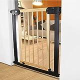 Kindersicherheitstür Breite 76-83cm Massivholz Treppen Schutzzaun Kindersicherheitstor (größe : Cylindrical Installation)