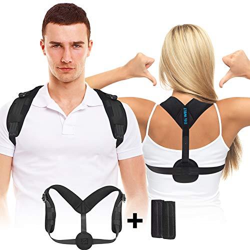 B.K.Welt Geradehalter zur Haltungskorrektur für gesunde und aufrechtere Haltung - Flexible Rückenstütze Rückenbandage für perfekte Haltung - Schultergurt für Damen und Herren