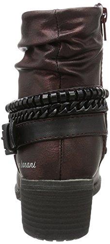 Bruno Banani - Stiefelette, Stivali a metà gamba con imbottitura pesante Donna Rosso (Rot (570 WINE))