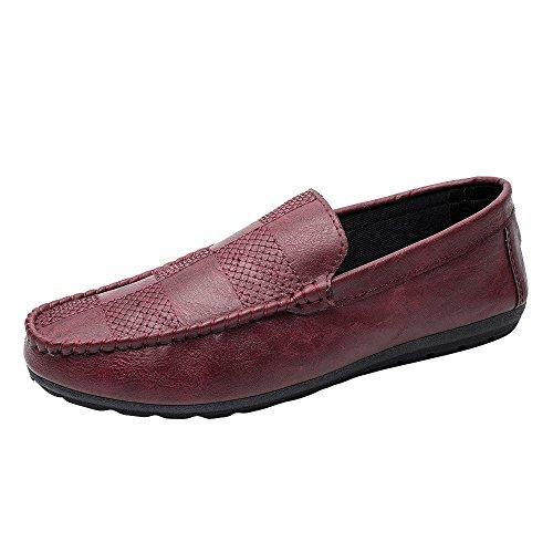 Clearance Sale [EU36-EU49] ODRD Schuhe Herren Neue Stil Mode Männer Casual Bequem Atmungsaktiv Turnschuhe Flache Slacker Schuhe Combat Hallenschuhe Worker Laufschuhe Wanderschuhe Sneakers ()