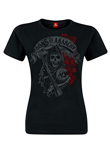 Sons Of Anarchy Reaper & Roses Maglia donna nero S