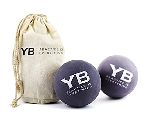 Jumbo Yoga Massage Balls (set of 2) by YOGABODY w/Canvas Bag for Myofascial Release, Trigger Point & Deep Tissue