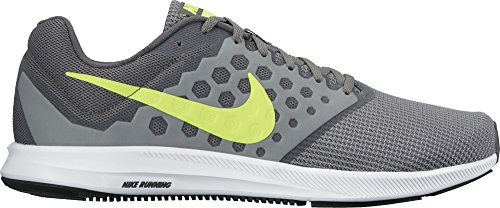 Nike Downshifter 7, Scarpe Running Uomo Grigio (Cool Grey / Volt / Dark Grey / White)