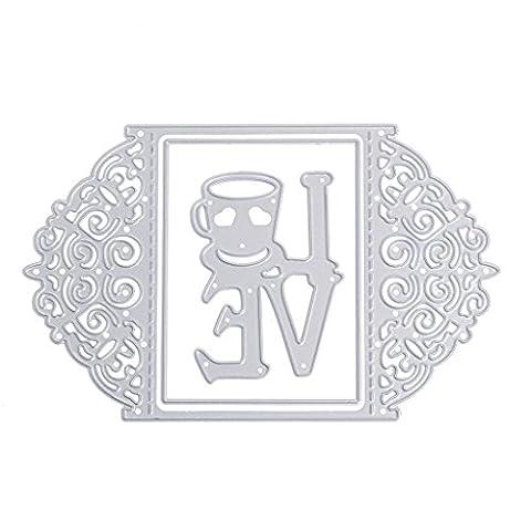 dairyshop Love Motiv im Stanz Karte Metall Formen DIY Schablonen