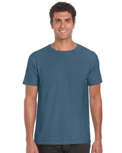 Gildan 64000 Mens Short Sleeve Softstyle T-Shirt Tee Indigo Blue