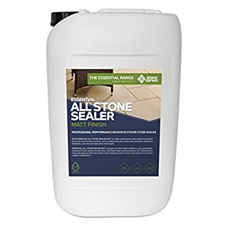 Stonecare4u - Essential All Stone Sealer MATT 'Dry' Finish - 25 Litre – Eco Friendly, Highly Effective Sealer for Natural Stone Patio's, Paving or Floors, Easy to Apply
