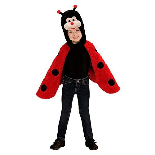 Kinder Kostüm Insekten - Widmann 97434 Kinderkostüm Marienkäfer aus Plüsch, Umhang mit Kapuze und Maske