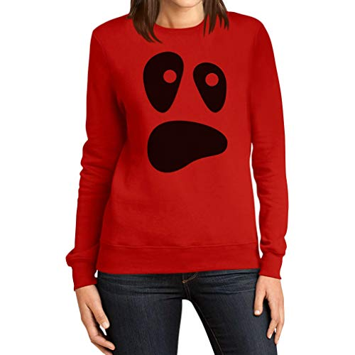 alloween Ghost Kostüme Damen Pulli Frauen Sweatshirt X-Large Rot ()