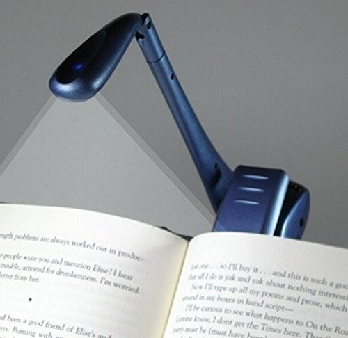 Clip-On Booklight - Blau - Leselampe: Ultrahelles LED Leselicht mit Clip -