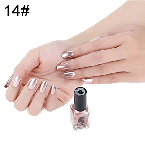 Eternitry Metallic Nagellack Spiegel Radiant Glitter Bunte Shiny Lack Maniküre Metall Nagellack Flash Base Nail Art für Frauen Mädchen -