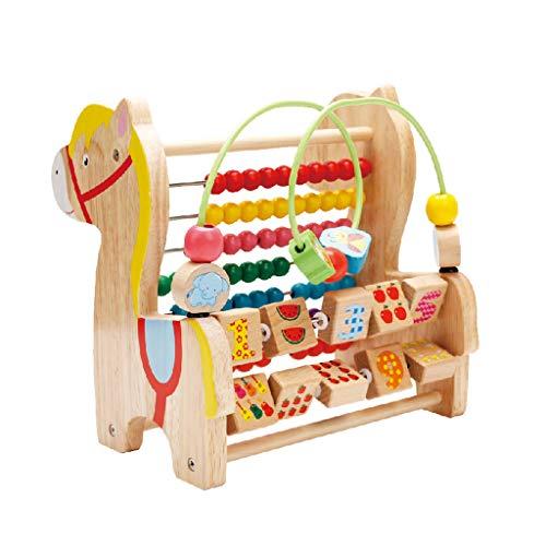 Abakus-Spielzeug für Kinder Früherziehung Puzzle Blöcke, Zahlen und Fruchtmuster, Baby Mathematik Aufklärungsspielzeug